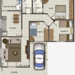 A casa em formato de L é uma construção moderna. (Foto: Divulgação)