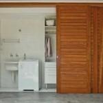 A decoração da area de serviço depende dos espaços disponiveis e do tamanho dos móveis
