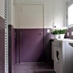 As cores fortes são tendencia nas decorações, principalmente em lavanderias