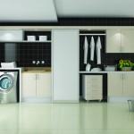 Móveis planejados com cabideiro próprios para lavanderia
