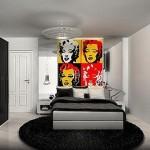 Painel com divas da época dão sentido a decoração retrô moderno
