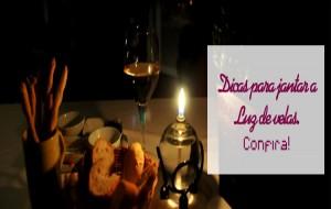 Dicas para jantar a luz de velas