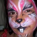 pintura em rosto de criança