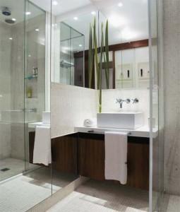 Decoração de Banheiro com Espelhos Fotos