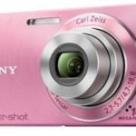 Câmera Digital Sony w350 rosa preço e fotos