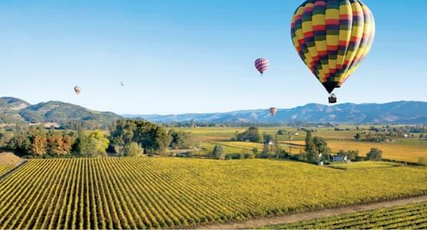 Fotos de Pontos Turísticos no Mundo Napa Valley viagem de balão