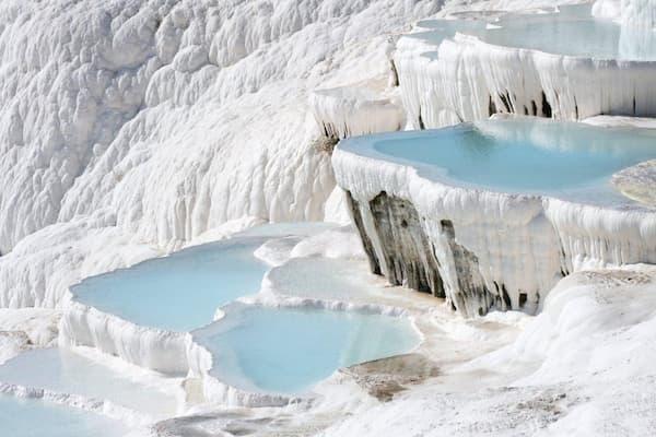 Fotos de Pontos Turísticos no Mundo fontes de pamukkale