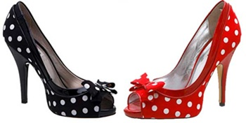 Sapatos Peep Toe Salto Alto