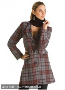 Vestido de Inverno Xadrez Modelos