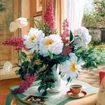 Flores - na sala do chá das cinco
