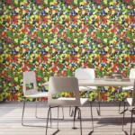 papel de parede alegre colorido