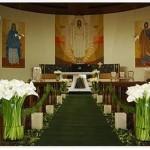 fotos de decoração de casamento na igreja 7