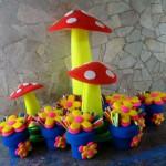 decoraçao de festa infantil com espuma