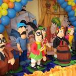 decoraçao de festa infantil com espuma 3