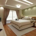 As sancas de gesso também podem ajudar a valorizar a iluminação do quarto (Foto: Divulgação)