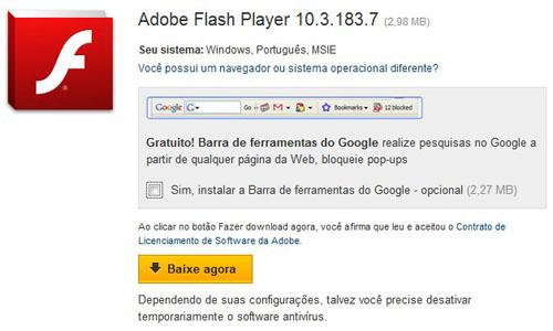 Atualize seu Flash Player e Acelere os Aplicativos da Web