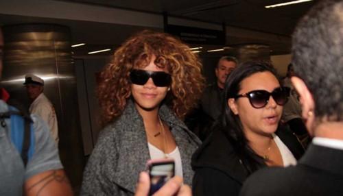 Rihanna já está no Brasil para os Seus Shows