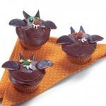Os morceguinhos de chocolate são uma delícia de cupcake. (Foto: Divulgação)