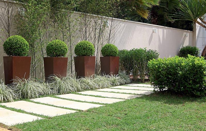 decoração de jardim simples com plantas decorativas