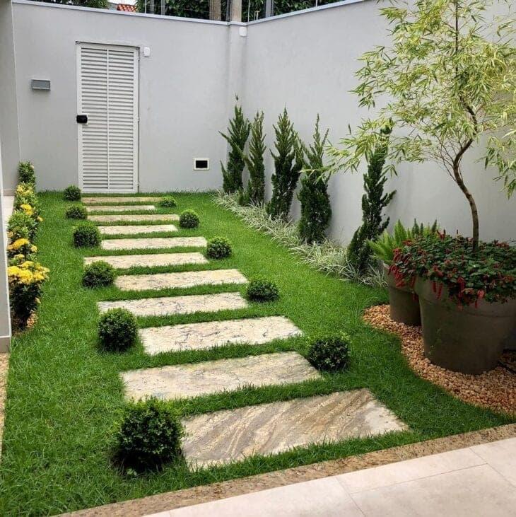 decoração de jardim simples