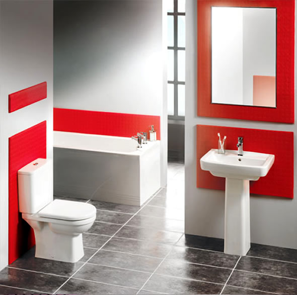 white and red bathroom aprenda a usar o vermelho na decora 231 227 o 21394