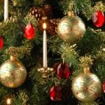 Bolas douradas para árvore de Natal. (Foto: Divulgação)