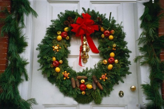 Guirlanda de Natal para porta