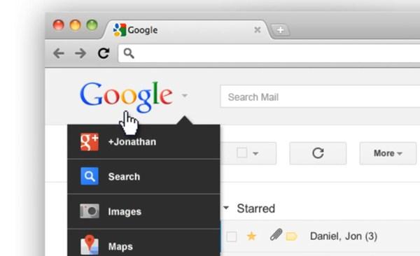 Google altera o formato da sua barra de navegação
