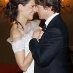 Katie Holmes e Tom Cruise em sua cerimônia de casamento (Foto:Divulgação)