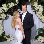 Fergie e Josh Duramel em seu casamento (Foto:Divulgação)