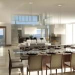Ambientes integrados de uma casa de luxo. (Foto: Divulgação)