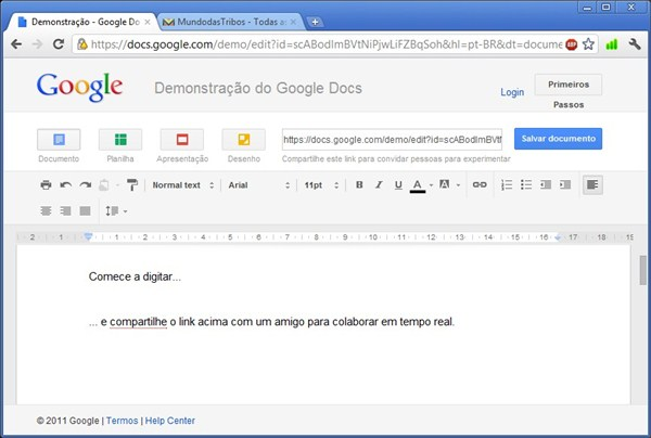 Google Docs, o seu Office online