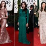 Anne, Angelina e Leighton em vestidos de gala (Foto:Divulgação)