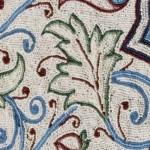 A elegância dos tapetes indianos.