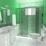 Decoração em verde para banheiro pequeno (Foto:Divulgação)