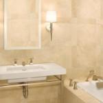 Decoração de banheiros com revestimento de mármore (Foto:Divulgação)
