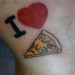 Tatuagem Eu amo Pizza (Foto:Divulgação)