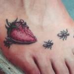 Tatuagem do morango (Foto:Divulgação)