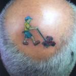 Tatuagem de cortador de grama (Foto:Divulgação)
