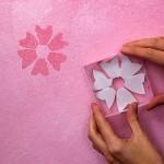 Fôrma feita em casa do tipo carimbo para pintura em parede