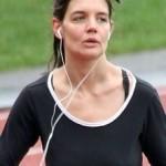 Katie Holmes fazendo exercicios (Foto:Divulgação)