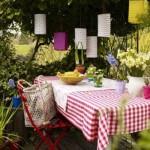Decoração de festa no jardim