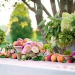 Frutas e flores combinam com a atmosfera do jardim