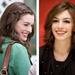 Antes e depois de Anne Hathaway(Foto:Divulgação)