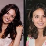 A atriz Ísis Valverde antes e depois do corte de cabelo(Foto:Divulgação)