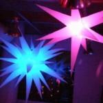 Enfeites iluminados de festa