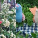 Passarinhos de tecido podem ajudar na decoração.