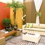Casa de praia com toque tropical na decoração