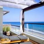 Uma bela vista da casa de praia
