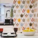 Papel de parede temático para a cozinha.